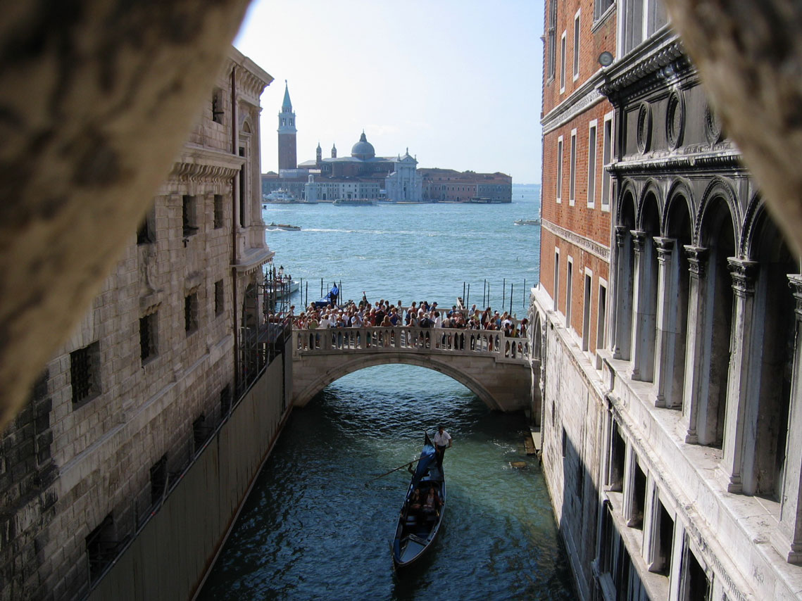Captured from the Bridge of Sighs