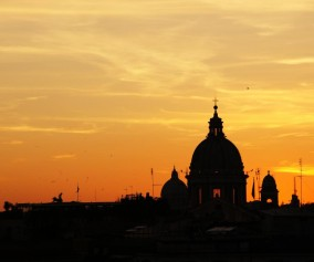 italy-rome-sunset